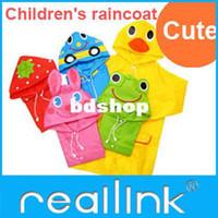 plastic raincoat - Reallink Kids Rain Coat children cute Raincoat Rainsuit Kids Waterproof Animal Raincoat
