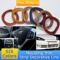 Stickers NONE 84806184 10M DIY Universal Auto Car Exterior Interior PVC Moulding Trim Decorative Line Flexible Adheresive Decoration Strip