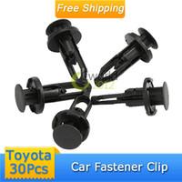 Gel 0 Fastener & Clip Free Shipping 30pcs Nylon Plastic Car Auto Fastener Bumper Clip Rivet Push Retainer Screw Fender FOR TOYOTA