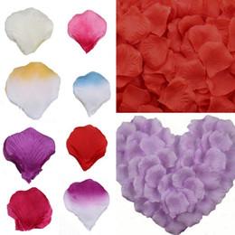 Wholesale 100pieces bag Wedding Flower Petals Home Party Decoration Colors Choose ZVH
