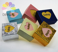 Wholesale x6 x3 cm Mixed Color Paper Heart Gift Box Jewelry Packaging amp Display Case For Necklace Earrings And Ring