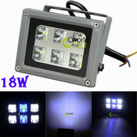 Wholesale 18W LED Aquarium Flood Light White Blue Bright For Fish Tank IP65 Coral Reef X3W Floodlamp