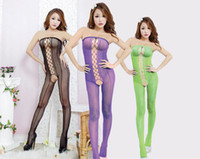 Wholesale 2014 Hot Sexy Lingerie Lace Jumpsuits G string and transparent gauze conjoined Baby dolls sexy constume the best chrismas gift for women