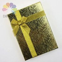 Wholesale x13x3cm Fashion Gold Rose Paper Jewelry Necklace Earring Ring Large Set Box For Gift Packaging amp Display