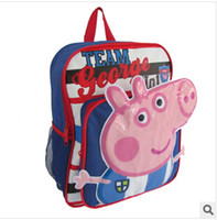 Wholesale 2014 new Hot sale cute cartoon baby bag Children s backpacks cute peppa pig Kids Backpack Schoolbag frozenC7