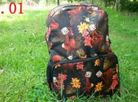 Wholesale New Design Fashion bags backpack canvas women shoulder bags women floral backpacks New school bag sport bag duffel bag