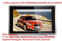 Wholesale Promotions INCH CAR GPS NAVIGATOR NAVIGATION CPU MTK MHZ DDR128M ROM GB CE6 FM Russia Ukraine Belarus Kazakhstan