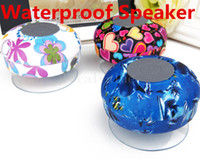 Wholesale Mini Colorful Wireless Bluetooth Waterproof Hi Fi Player Stereo Speaker With Suction Cup Build in Mircophone Shower Speakers
