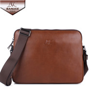 Wholesale BANUCE Men Shoulder Bags Casual Messenger Bag Box Packing New Arrival High Quality Genuine Leather