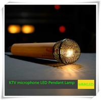 Wholesale KTV microphone LED Pendant Lamps Indoor Lighting chandelier lights warm white198mm mm AC110V V