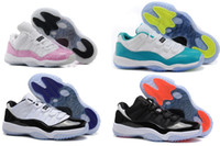 Wholesale Retro Low Womens XI Aqua GS Turbo Green Snakeskin Concord Infrared Basketball Shoes