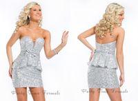 Cheap 2014 Sheath Sweetheart Rachel Allan Coctkail Dresses Short Sleeveless Rhinestone Beads Sash Peplum Sequins Fabric Homecoming Dress 6300