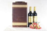 Wholesale red wine wooden box gift leather box wine luxury bar drinkware set red wine aerator set