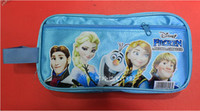 Wholesale frozen pen bags fashion Anna Elsa princess cartoon pen bags kids birthday gifts children school supplies dhl free and fast good price