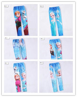EMS FREE Frozen Elsa Anna Children Girls Legging Snow Queen ...