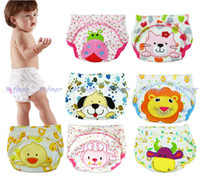 Wholesale 3pcs Baby Diapers or Baby Nappies Cloth Diaper Cloth Nappy Training Pants Trainer J0001