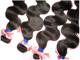 Wholesale 4 bundles Queen A raw human brazilian body wave wet and wavy can be dye mixed lengths outlet price