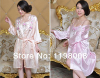 Wholesale 2014 Summer Sexy Lingerie Ladies Sling Two piece Pajamas Fashion Women Comfortable Sleepwear Robes