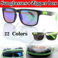 Wholesale SPY KEN BLOCK HELM Cycling Sports Sunglasses Outdoor Sun glasses Dazzling color women wan fashion oculos de sol colors with Zipper box