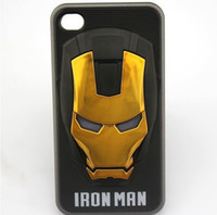 Wholesale - New 3d Iron Man Cell Phone Cases for iphone4 4s 5...