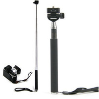 Wholesale Self timer Mobile phone Extendable Ski Pole Handle Telescopic Monopod With Tripod Mount For Camera iphone S S C Galaxy S5 S4 NOTE