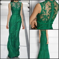 Reference Images Crew Lace 2014 Hot Sale Plus Size Vintage Emerald Sheath Jewel Floor Length Lace Evening Prom Dresses Elie Saab Dress Tuller
