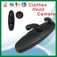 Wholesale Hot Spy Clothes Hook Camera Clothes Hanger Spy Camera Motion Detection Hidden DVR Cam Support Max To GB