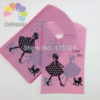 Jewelry Pouches,Bags plastic carrier bags - New Fashion Plastic Dot Style Useful Boutique Gift Carrier Shopping Bags x15cm