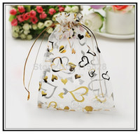 Free Shipping 100pcs 7x9cm White Christmas Jewelry Bags Orga...