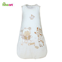 Cheap Cartoon Baby Sleeping Bag Cute Bear Baby Girl Sleeping Bag Newborn Infant Baby Pajamas Mircofleece Free shipping