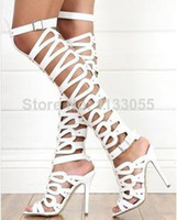 Cheap Stiletto Heel Gladiator Sandals Fashion Summer Boots Pump Heels Platform Sandals Summer Shoes Women Black,White,Brown New 2014