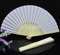 Terylene hand fans - Free Gift Hot Sale Chinese Silk Bamboo Hand Fans Wedding Fan Bridal Accessories