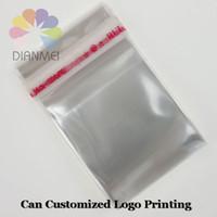 800pcs / lot al por mayor de 4x6cm claro blanco sello auto-adhesivo plástico OPP Joyería Embalaje Bolsas Pueden personalizada impresión de la insignia