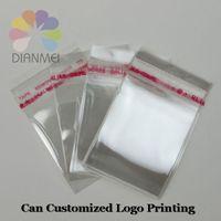 400pcs/lot por mayor 9x12cm blanco claro Self adhesivo sello plástico OPP joyería Packaging bolsas puede modificado para requisitos particulares Logo impresión