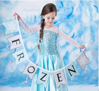 TV & Movie Costumes Teenage People New Frozen Dresses Lace Tulle Flower Girl Blue Fairy Dresses Birthday Gifts Christmas Gifts Frozen Costumes 100-140cm 5pcs Princess Dresses