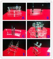 Wholesale Electronic Cigarette Display Stand E Cigarette acrylic showcase ego holder rack Exhibition Shelf For Ego Battery Atomizer drip tip E Liquid