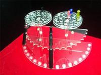 Wholesale atomizer ego battery Display Stand E Cigarette acrylic show case ego holder rack Exhibition Shelf For Ecig Battery Atomizer driptip E Liquid