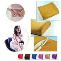 Children Cooling Column Home Office Car Seat Chair Memory Foam Lumbar Back Support Relief Cushion Pillow