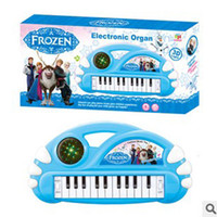 Wholesale 201407H frozen electronic piano Children s cartoon electronic Piano with snow Romance Music demo songs