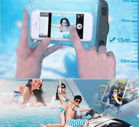 Wholesale 7 Inch Waterproof Phone Pouch Underwater Clear PVC Phone Case Cell Bag For Samsung Galaxy amp iPhone amp HTC amp LG amp Huawei All Cellphone