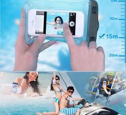 Wholesale 7 pulgadas a prueba de agua bolsa del teléfono bajo el agua de PVC claro caja del teléfono celular del bolso para la galaxia del iPhone HTC Huawei LG Todas Celular
