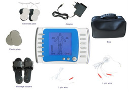 Wholesale Dual channel output TENS UNIT TENS EMS machine Electrical nerve muscle stimulator Pulse body massager Acupuncture Electrotherapy