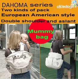 Wholesale Okiedog Sumo Mummy bag versatile package to be produced fashion handbags Sakawa Damask made of D Polyester fiber Have kinds of colors