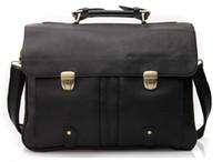 Wholesale Mens Genuine Leather Business Handbag Briefcase Laptop Notebook Bag Messenger Shoulder Business Bag Tote A3820