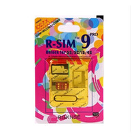 Wholesale R SIM RSIM9 R SIM9 Pro Perfect SIM Card Unlock Official IOS ios RSIM for iphone S S C GSM CDMA WCDMA G G Free