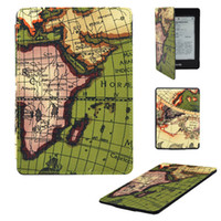 amazon - 1PC Green Map Style PU Leather Premium Folio Case Smart Cover for Amazon Kindle Paperwhite