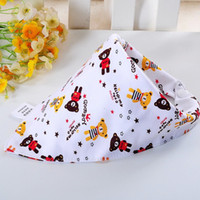 Wholesale Cotton Bibs Toddler Reversible Bandit Bandana Dribble Baby Car Triangular Bibs Burp Cloths Button Newborn Baby Y