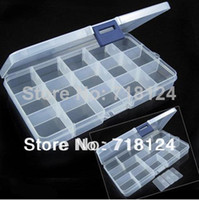 Plastic Sundries Eco Friendly 2 pcs lot 10 15 Grid Removable Plastic Home Storage Organizer Boxes for Cosmetic Jewelry Pill Box Case High Quality 0163