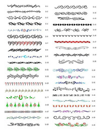 Wholesale Temporary Airbrush Tattoo Stencil book Templete PH SB011 for glitter stencil kit beginner tattoo kits sets supplies