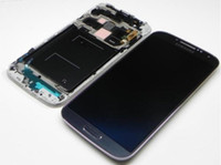 Wholesale original lcd display touch glass screen frame for samsung galaxy s4 i9500 i9505 i337 white dark blue color